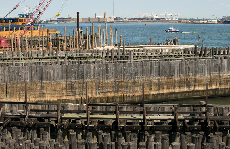 Staten Island Ferry-dok, Staten Island New York, NY royalty-vrije stock afbeeldingen