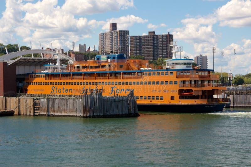 Staten Island Ferry messo in bacino fotografia stock libera da diritti