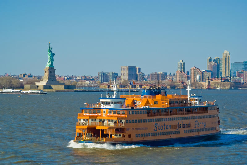 Staten Island Ferry, New York. Staten Island Ferry and Statue of Liberty, New York City