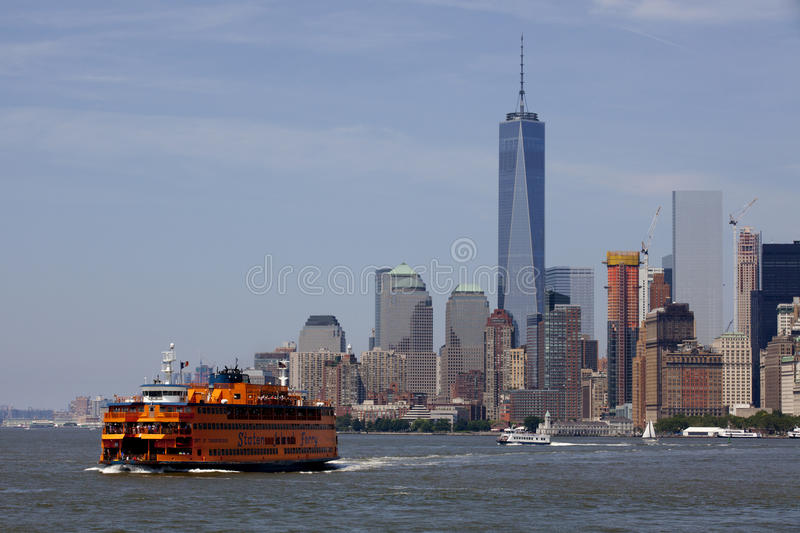 Staten Island Ferry - New York City, Lower Manhattan (2015) stockfotografie