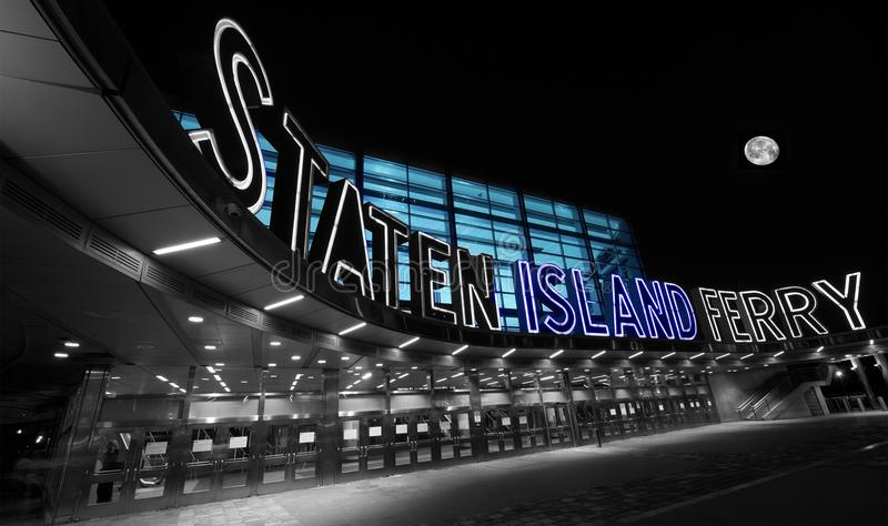 Staten Island Ferry Terminal Early-Morgen lizenzfreies stockfoto