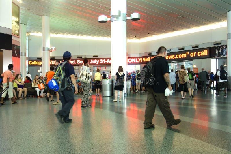 Staten Island Ferry Whitehall Terminal lizenzfreies stockbild