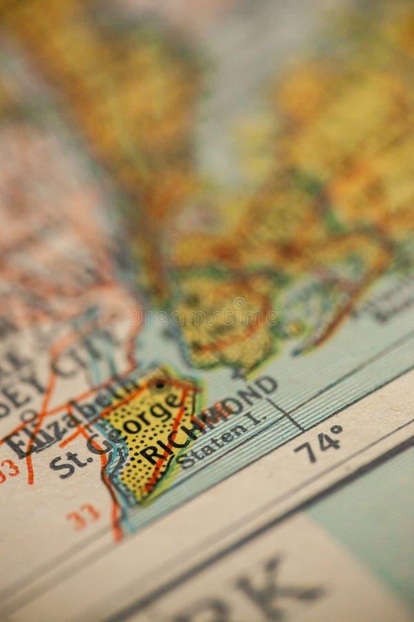 Staten Island Nowy Jork mapa zdjęcia stock