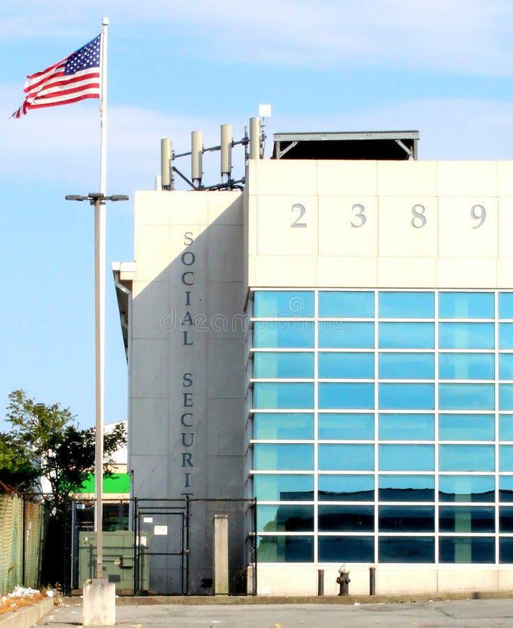 Staten Island, Nueva York EE.UU. Edificio de la administraci?n de la Seguridad Social fotografía de archivo