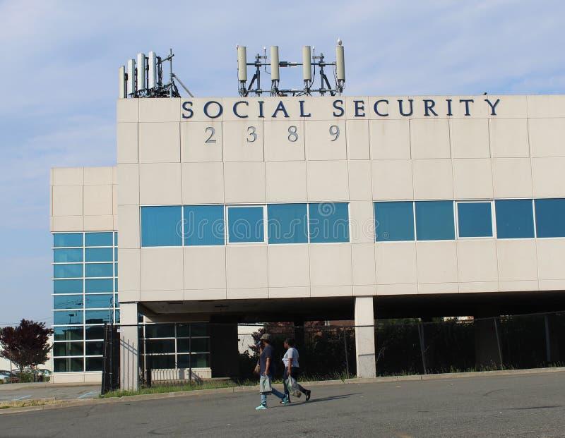 Staten Island, Nueva York EE.UU. Edificio de la administraci?n de la Seguridad Social fotografía de archivo libre de regalías