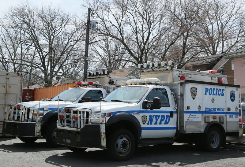 nypd emergency service vehicles ready to help in staten