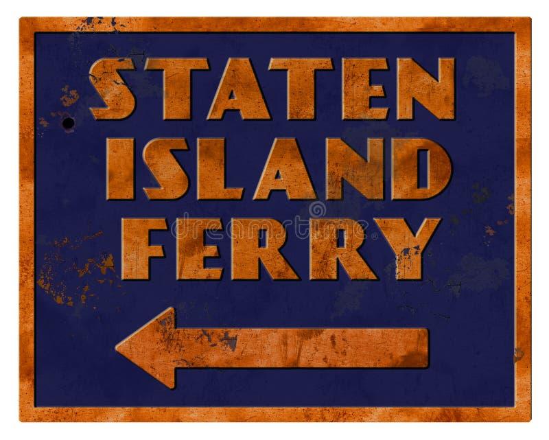 Staten Island promu znaka rocznika Retro Grunge ilustracja wektor