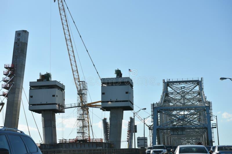 Staten Island York nowych goethals bridżowy odświeżanie fotografia royalty free