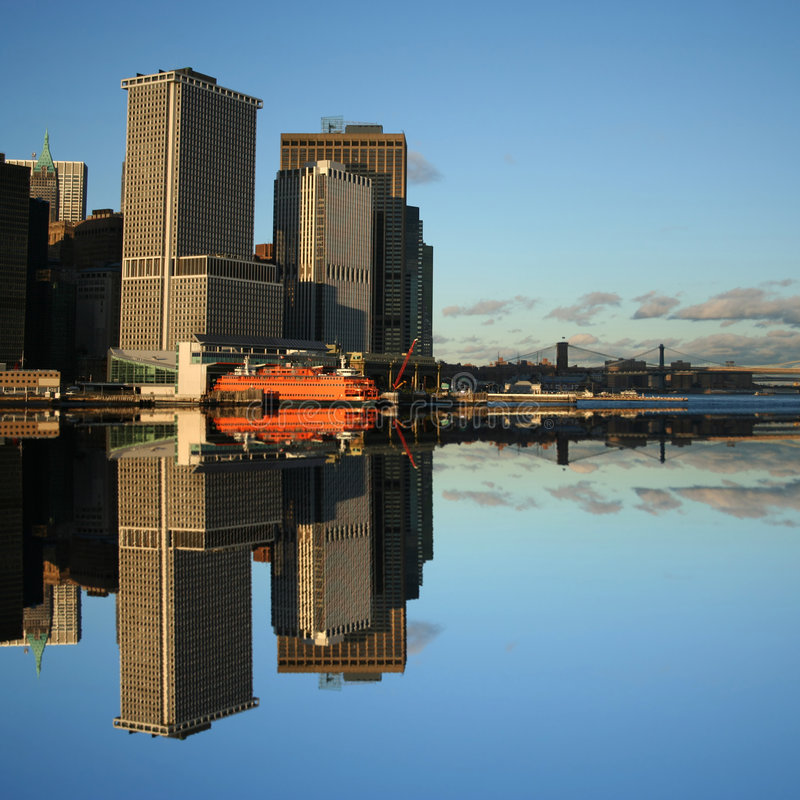 Staten Islandfähre Manhattan lizenzfreie stockfotografie