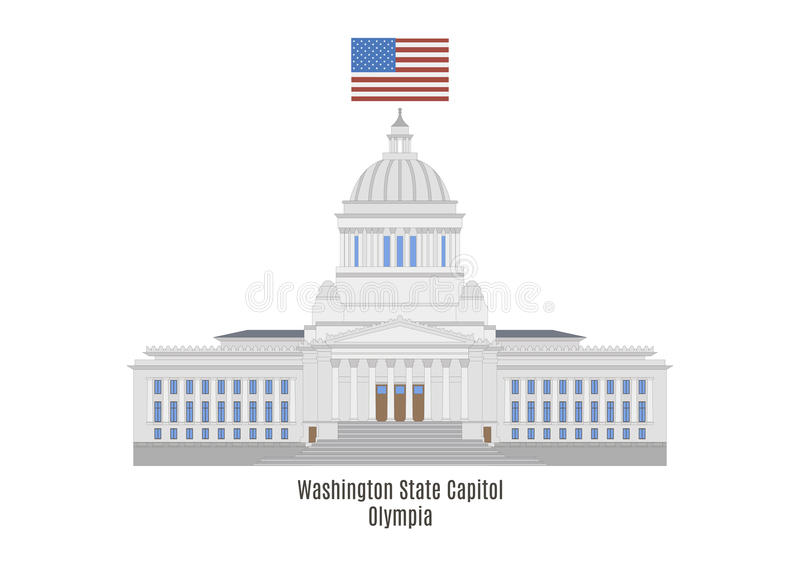 Staten Washingtoncapitol, Olympia royaltyfri illustrationer