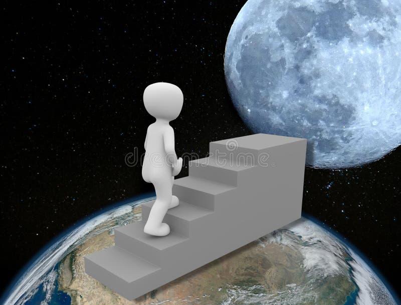 StatesGoing uni de nouveau à la métaphore de lune illustration libre de droits