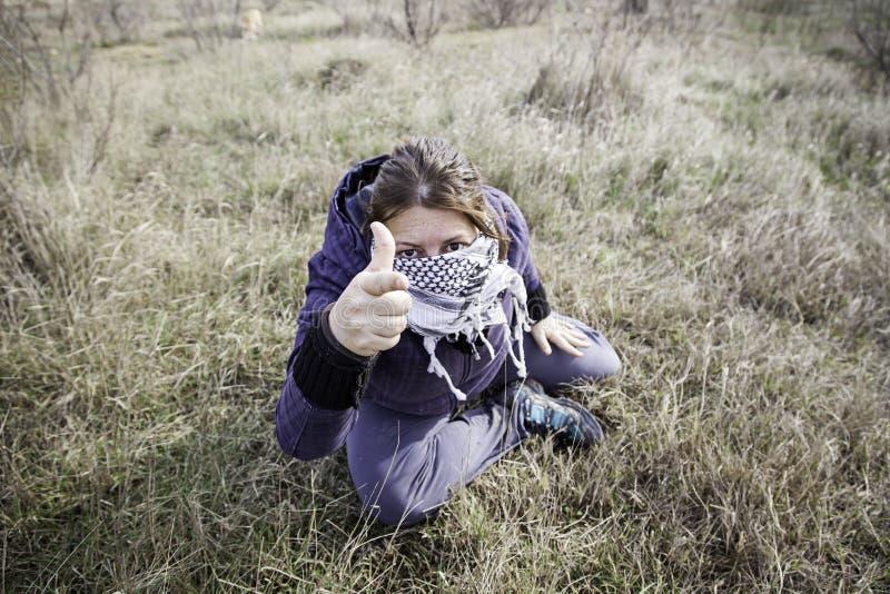 Stati del radicale della donna fotografia stock libera da diritti