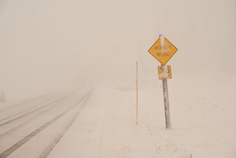 Stati della bufera di neve fotografia stock