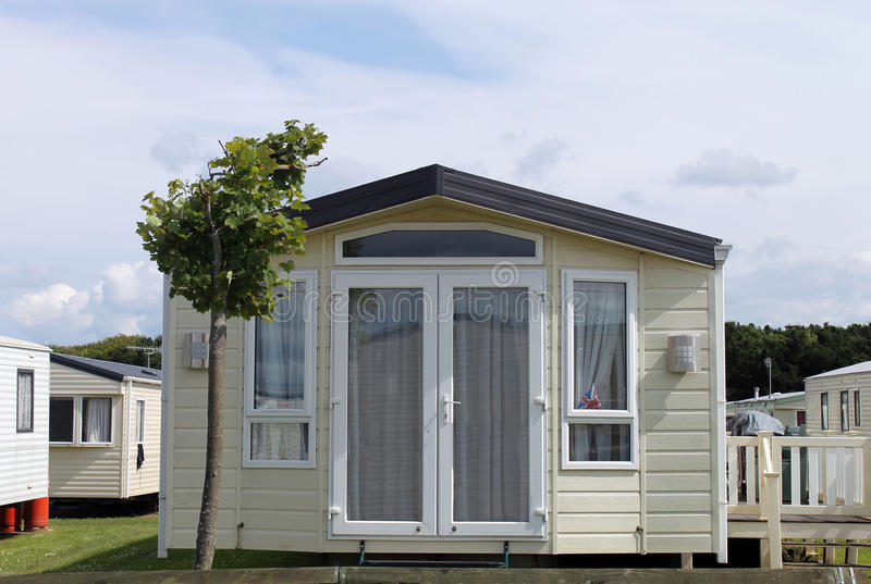 Download Static Caravan In Trailer Park Stock Image - Image: 27366381