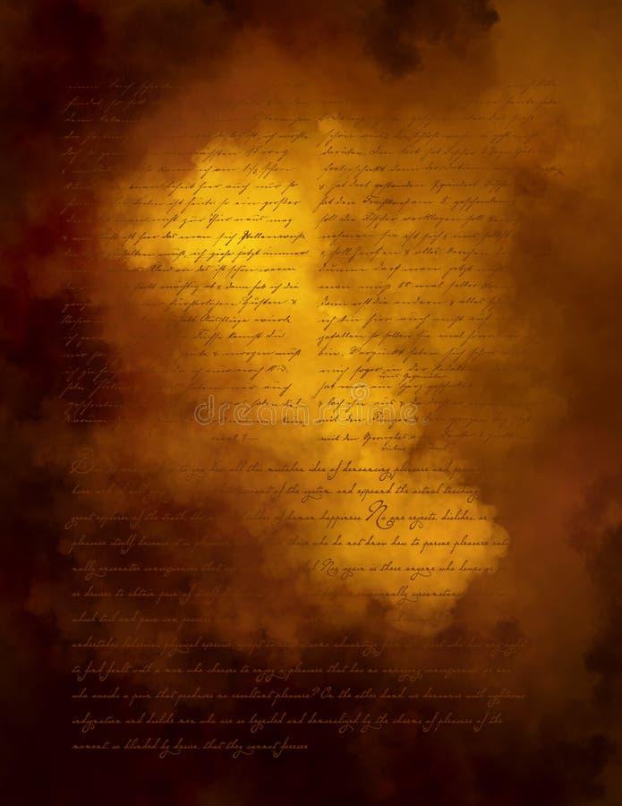 Stationär bakgrund för bokstavspergamentpapper arkivbild