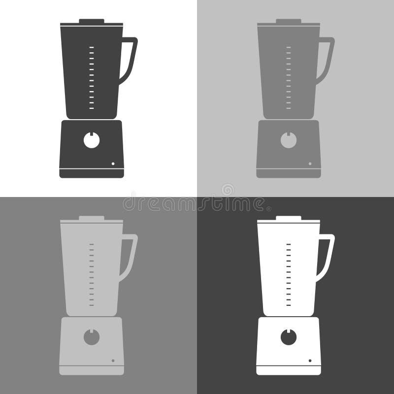 Stationäre Mischmaschine der gesetzten Küche der Vektorikone für das Mischen und grindi lizenzfreie abbildung