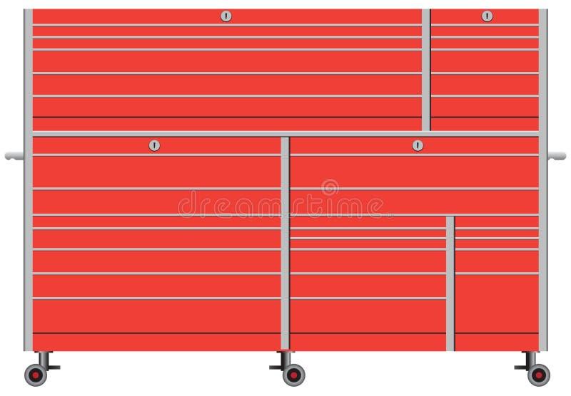 Stationärer Metallwerkzeugkasten vektor abbildung