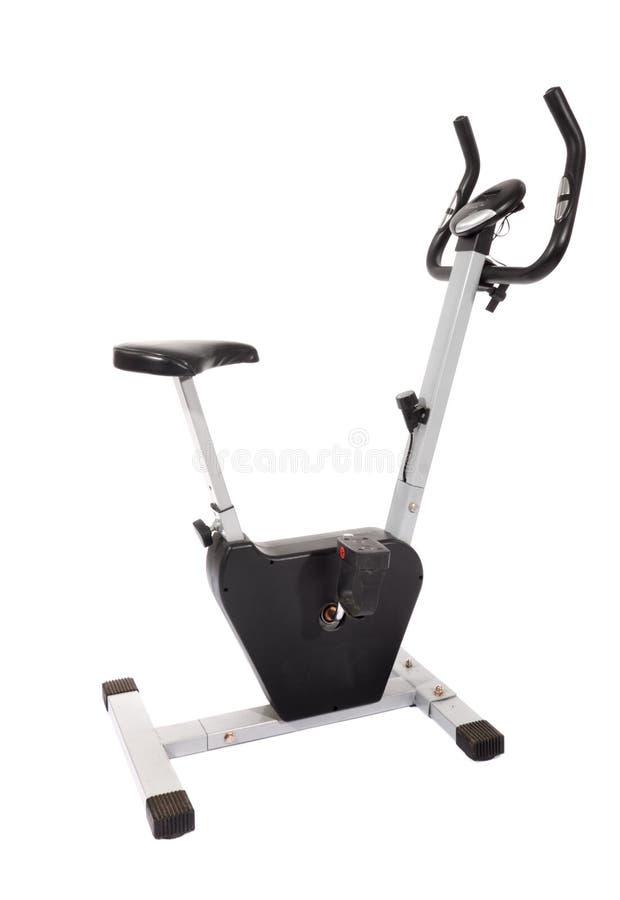 Stationäres Fahrrad, Gymnastikmaschine stockbild