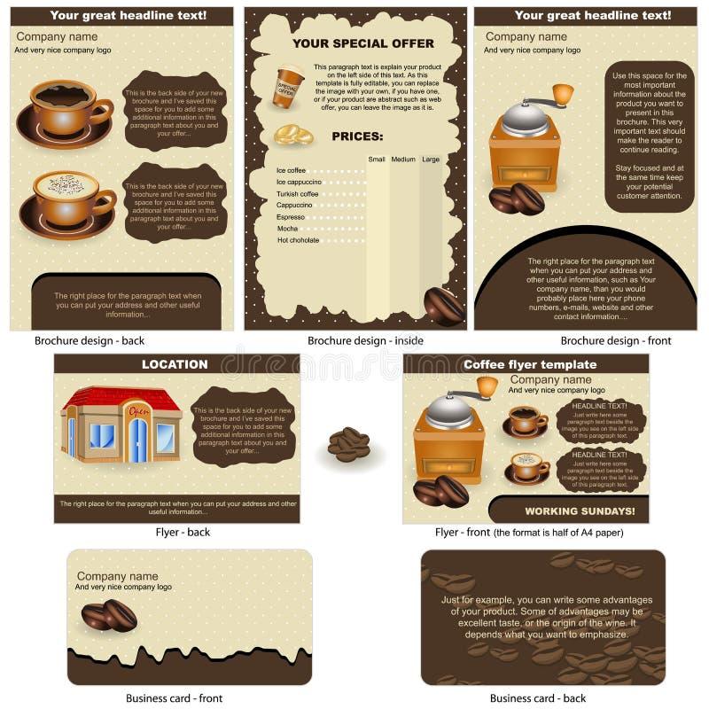 stationärt kaffe royaltyfri illustrationer