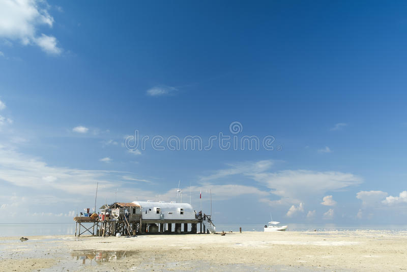 Mer Philippines de Sulu de récif de Tubbataha photo stock