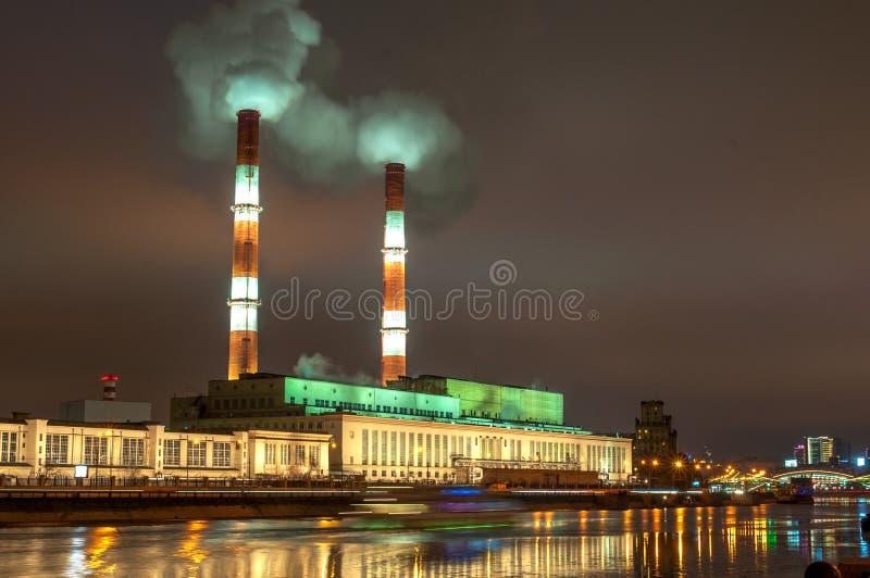Station électrique de Moscou images libres de droits