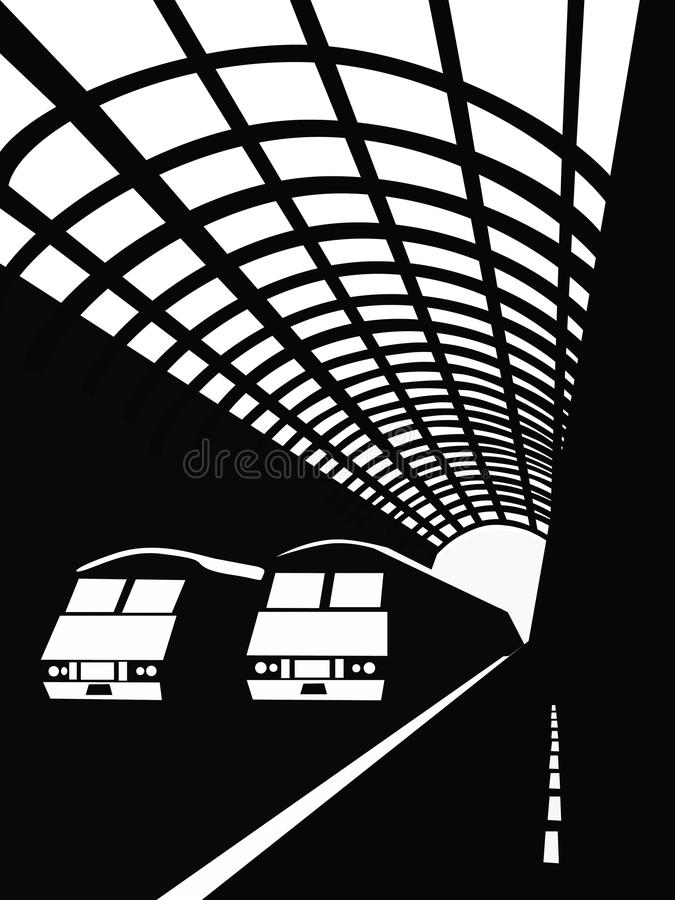 Station royalty-vrije illustratie