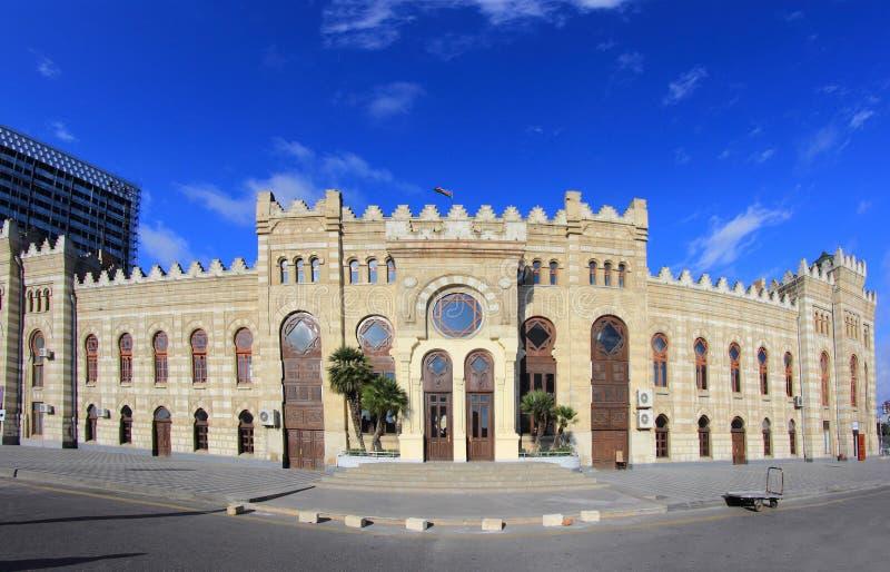 Station in Baku, Azerbeidzjan stock afbeelding