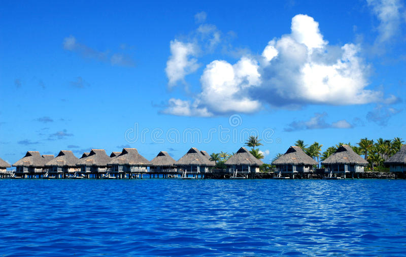 Station balnéaire de luxe de Bora Bora photo stock