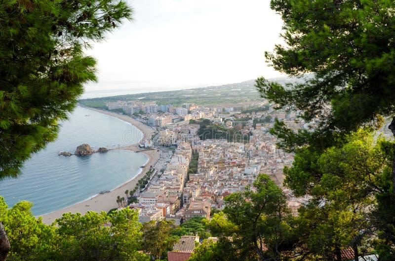 Station balnéaire méditerranéenne de Blanes, Espagne Costa Brava Falaises rocheuses Palomer photos libres de droits