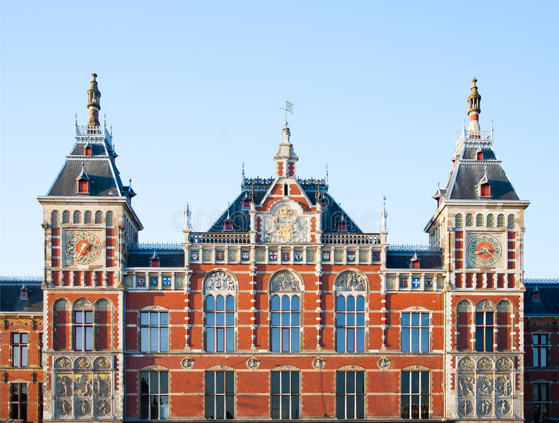 Station centrale Amsterdam photographie stock