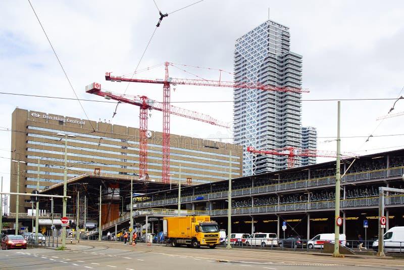 Station centrale de la Haye, Pays Bas images stock