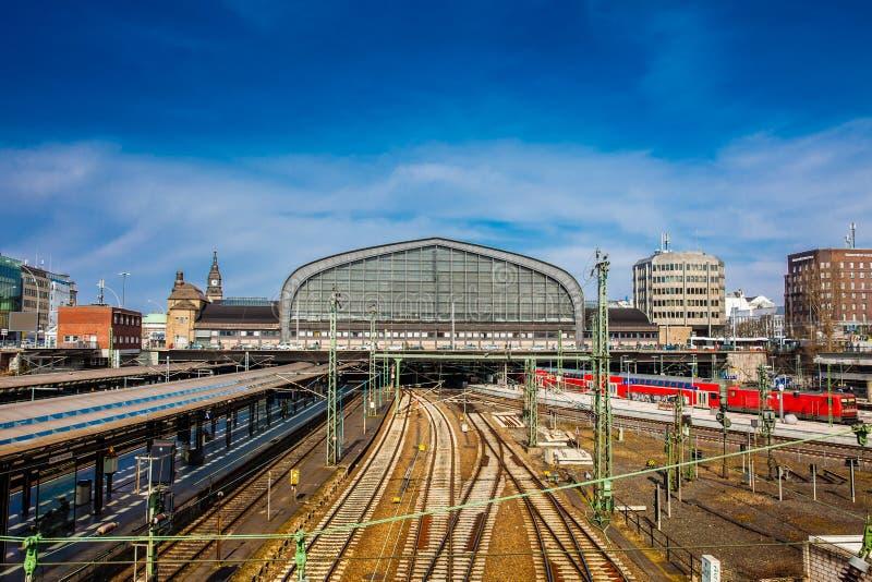 Station centrale ferroviaire de Hambourg images libres de droits