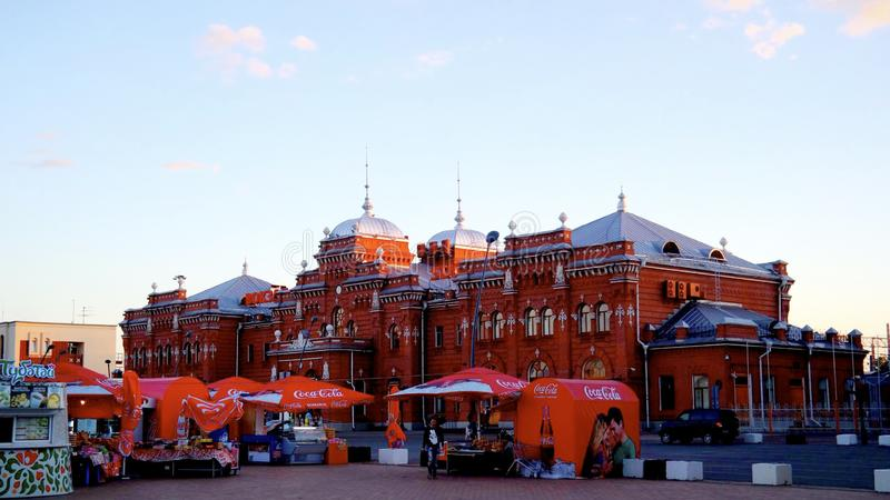 Station in the city of Kazan. Вокзал Казани stock photo