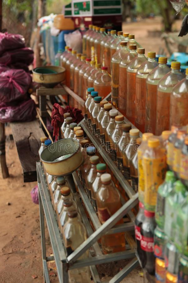 Station d'essence au Cambodge photographie stock libre de droits