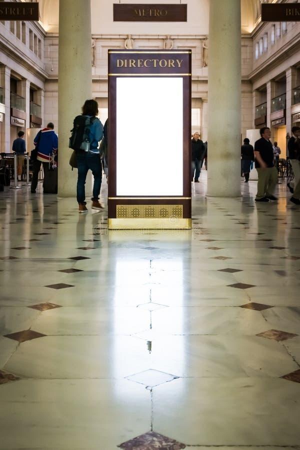 Station d'isolement par blanc vide Washi des syndicats de publicité d'annuaire photos libres de droits