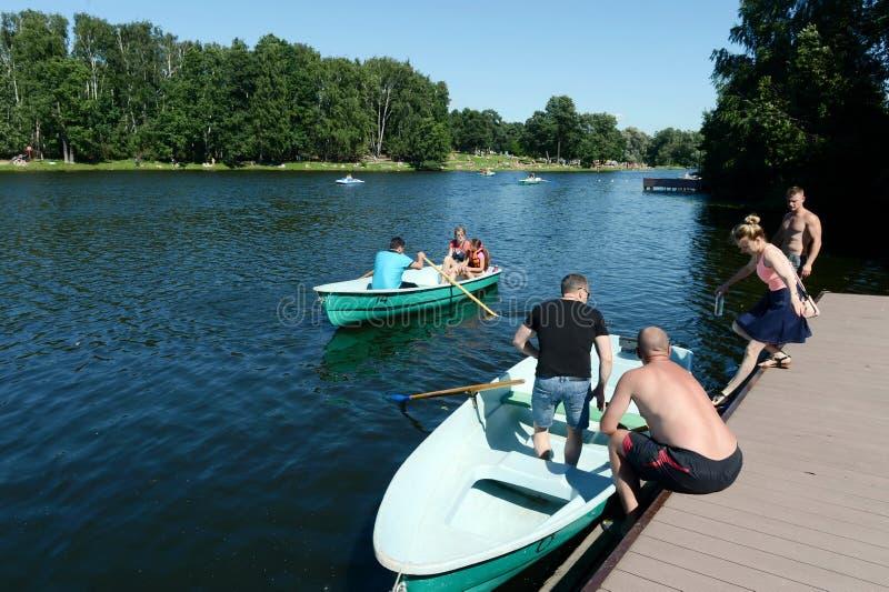 Station de bateau dans le ` naturel-historique de Kuzminki-Lublino de ` de parc photos libres de droits