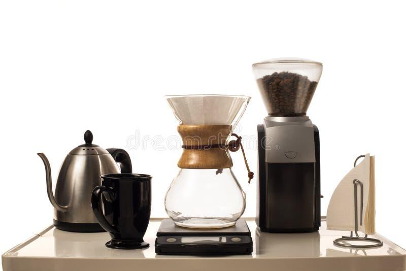 Station de brassage de café images libres de droits