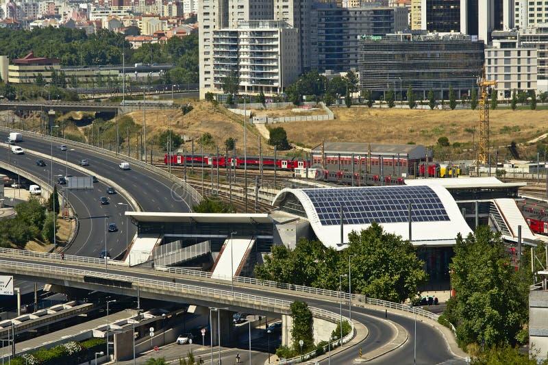 Station de Campolide, Lisbonne images libres de droits