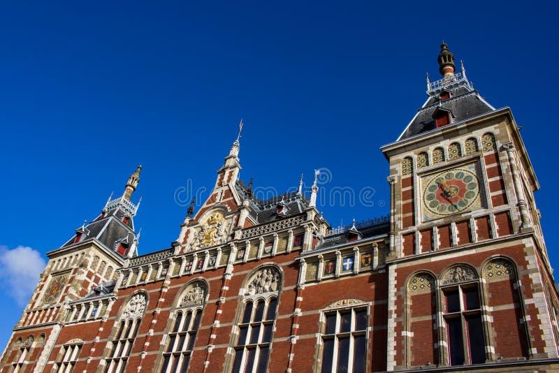 Station de central d'Amsterdam photographie stock libre de droits