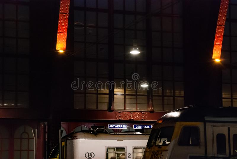 Station de central d'Antwerpen photo libre de droits