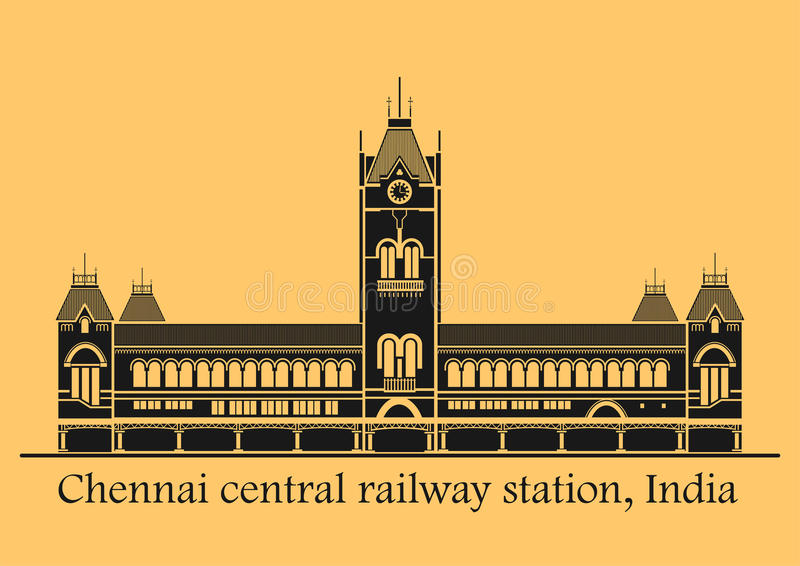 Station de central de Chennai illustration libre de droits