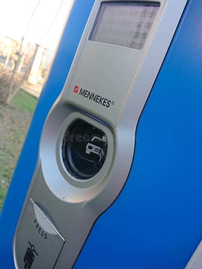 Station de charge de véhicule électrique de Vattenfall, détail photo libre de droits