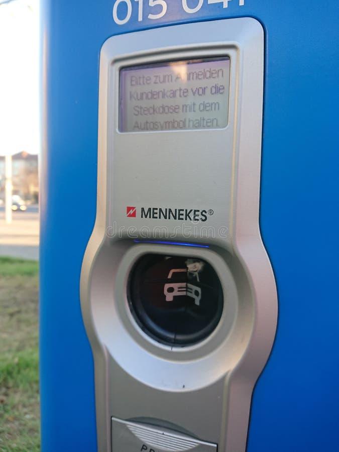 Station de charge de véhicule électrique de Vattenfall, détail photographie stock libre de droits