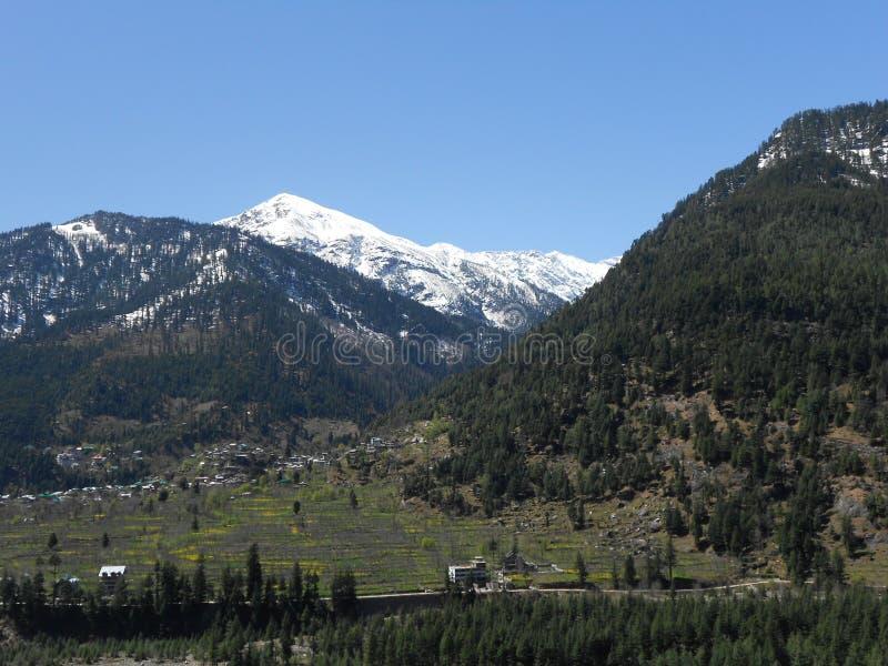 Station de colline de Manali, près de Kullu, passage de Rohtang, Himanchal Pradesh, Inde image libre de droits