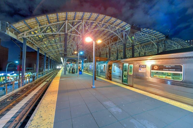 Station de Coney Island - Brooklyn, New York photographie stock