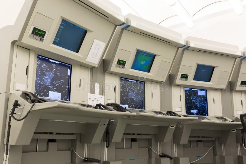 Station de contrôle du trafic aérien photographie stock libre de droits