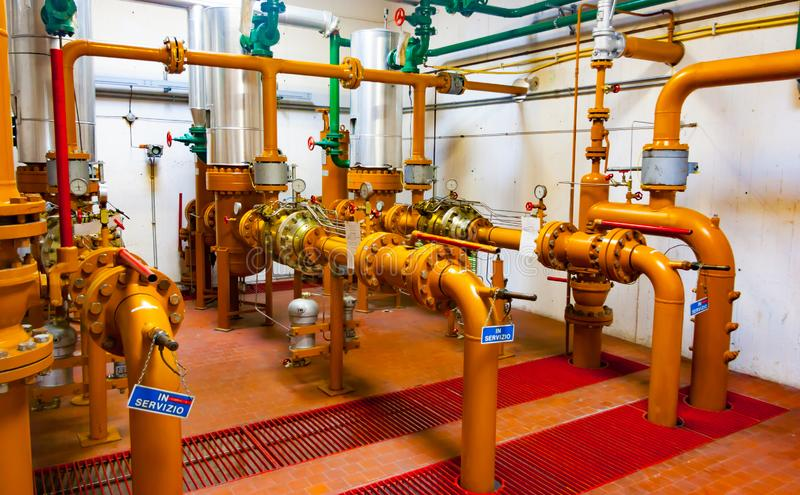 Station de distribution de gaz naturel photographie stock libre de droits