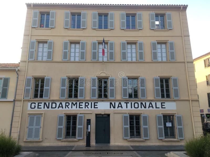 Station de gandarmeria de Saint Tropez images libres de droits