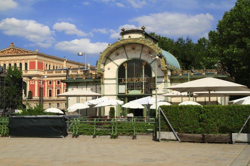 Station de Karlsplatz Stadtbahn photo stock