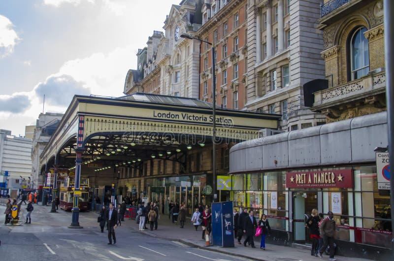 Station de Londres Victoria photographie stock